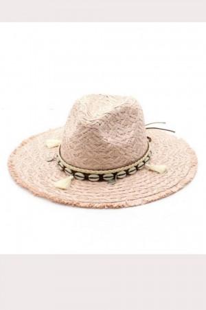 Chapeau à pompons blanc