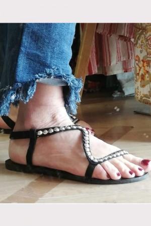 Sandales à clous noires