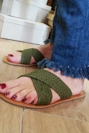 Mules Anoushka kaki