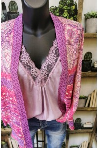 Kimono rose et violet