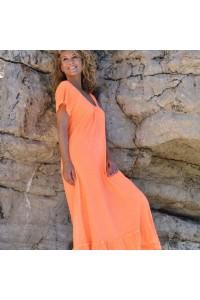 Robe orange Chantal B