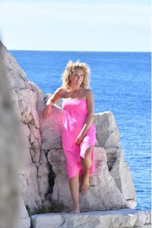 Robe bustier fushia Chantal B