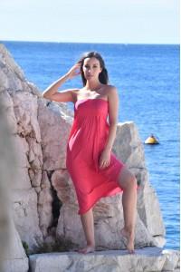 Robe bustier rouge Chantal B