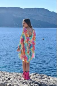 Robe courte arc en ciel Chantal B