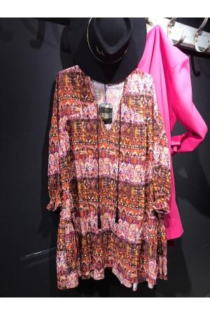 Robe Chantal B ethnique courte
