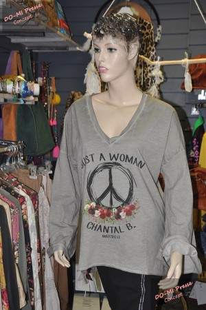 T-shirt Just a Woman by Chantal B