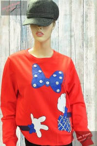 Sweat-shirt I love m fashion rouge - Johanna Paris
