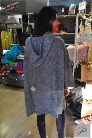 Veste laine à capuche - Stelly Bianchi
