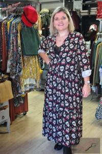 Robe longue Têtes de mort - Stelly Bianchi