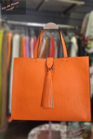 Sac cuir Lucca orange