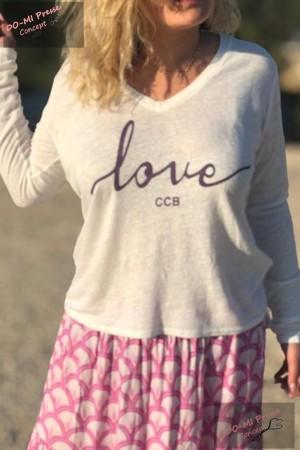 "T-shirt manches longues ""Love"" by Chantal B"