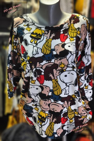 "Pull Caitlyn ""Snoopy and Co"" fond blanc"
