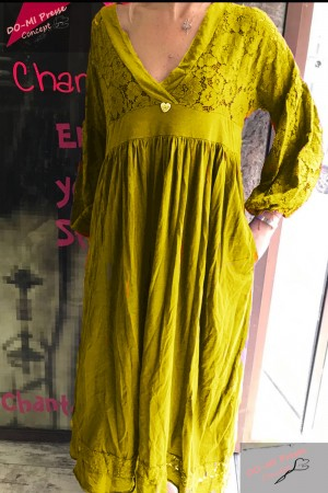Robe Chicca jaune - Chantal B