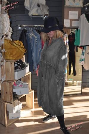 Robe jean's noir - Johanna