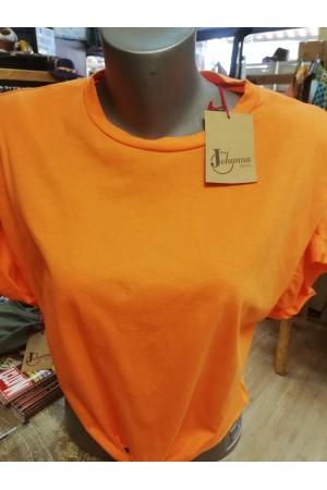 Tee-shirt GLAM orange Johanna Paris