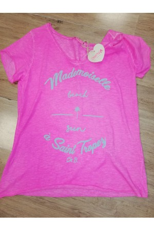 "Tee-shirt  ""Mademoiselle à Saint Tropez"""